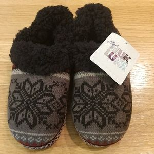 Muk Luks Snowflake Sweater Shearling Slippers